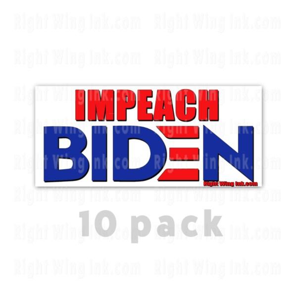 Impeach Biden Stickers 10