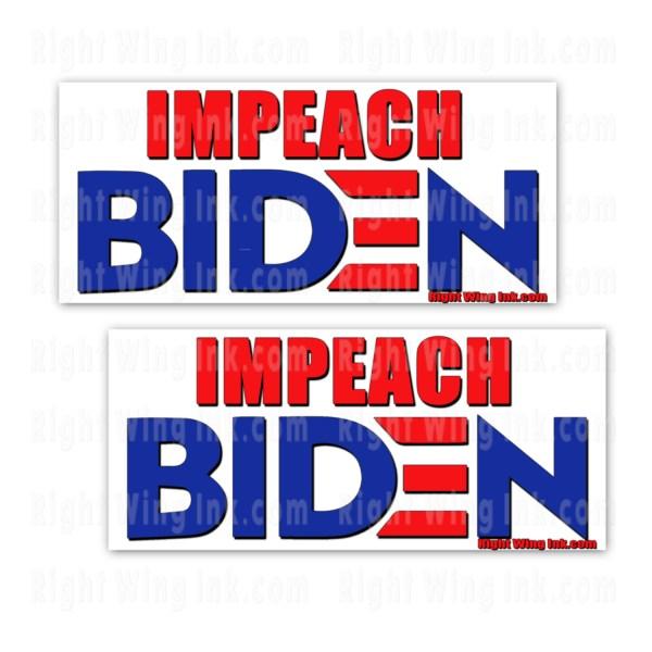 Impeach Biden Stickers 2