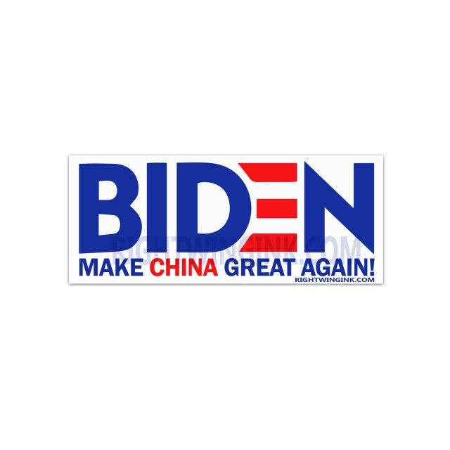 Biden Make China Great Again Stickers