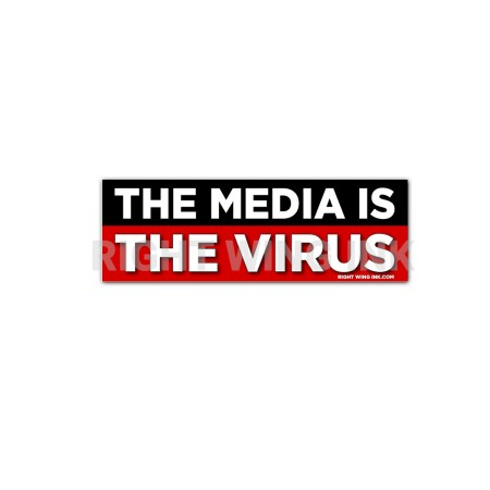 The Media Is The Virus Stickers