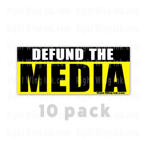 Defund the Media Stickers 10