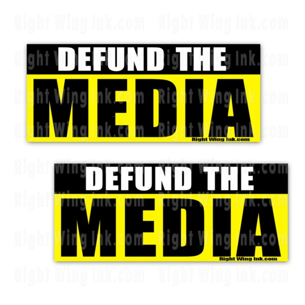 Defund the Media Stickers 2