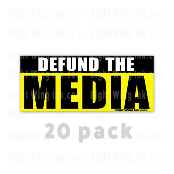 Defund the Media Stickers 20