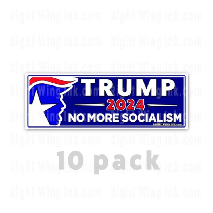 TRUMP 2024 Stickers No More Socialism 10