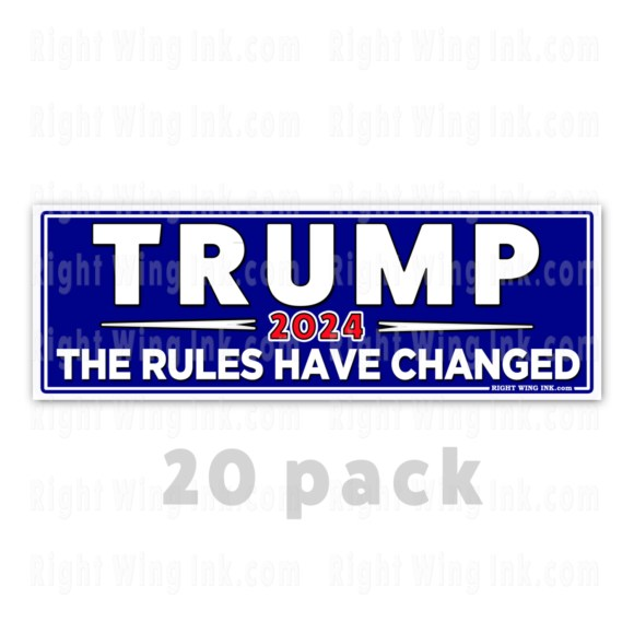 TRUMP 2024 Stickers The Rules Have Changed 20