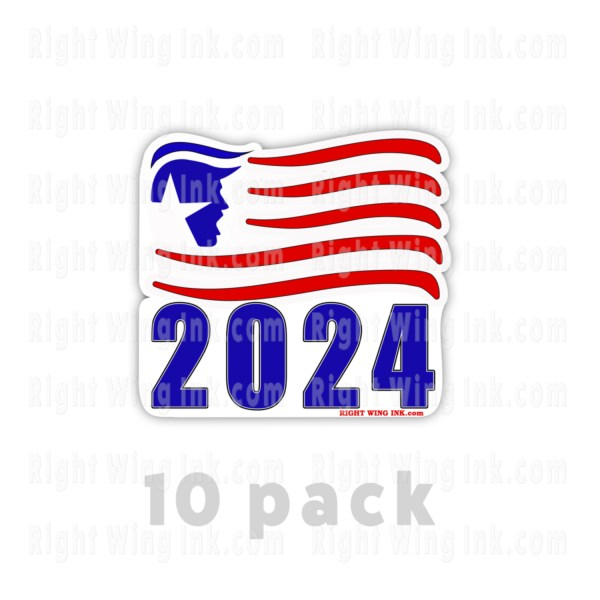 TRUMP 2024 Bumper Stickers Flag 2 Pack 8