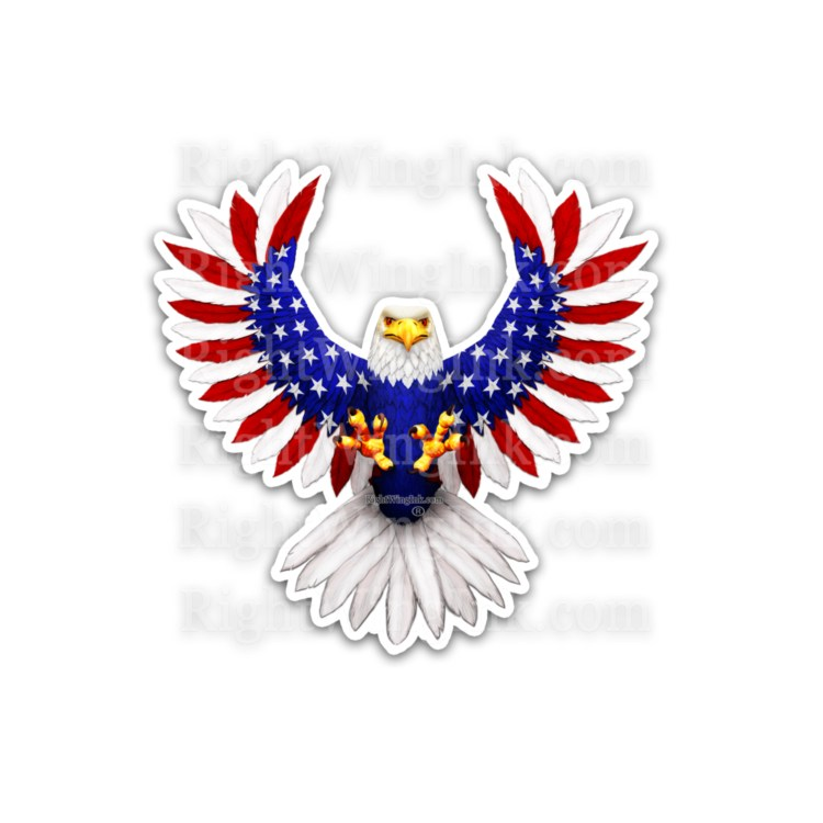American flag Eagle Stickers