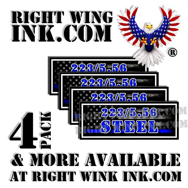 223-5.56 Steel Ammo Can Decals Stickers