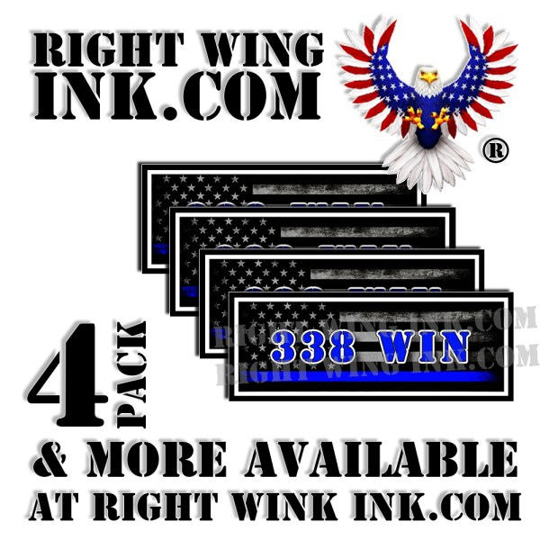 338 WIN Ammo Can Decals Stickers