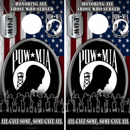 Military Honer Vets Cornhole Wraps Combo 5 POW 2