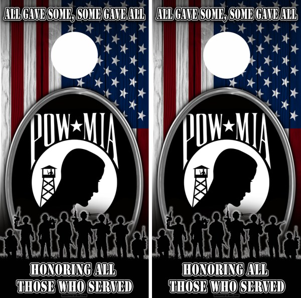 Military Honer Vets Cornhole Wraps Combo 6 POW 1