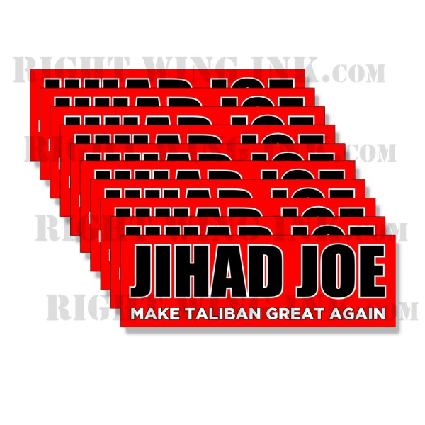 Jihad Joe Stickers RED - Make Taliban Great Again Stickers 2 Pack 1