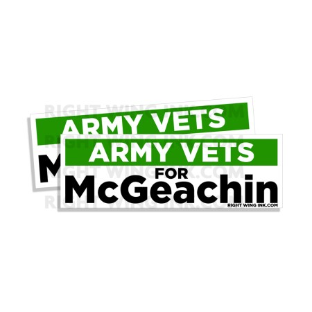Army Vets for McGeachin 2 Pack