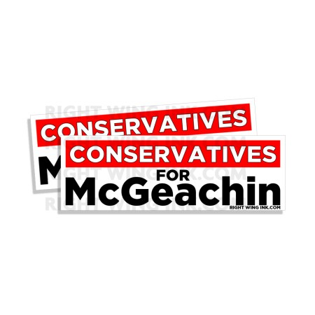 Conservatives For McGeachin Stickers