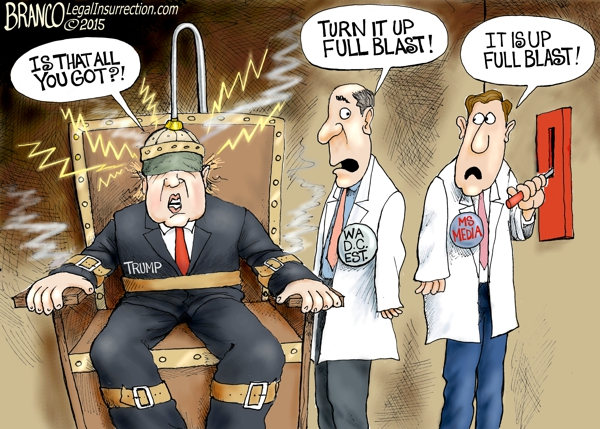 Image result for medIA VS TRUMP Political CARTOON
