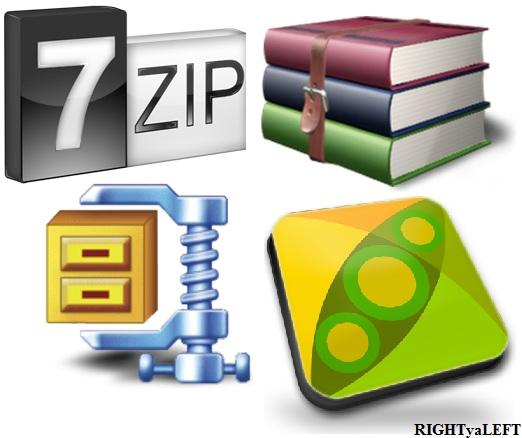 Winrar YA 7-Zip YA WinZip YA PeaZip - File Compressor - RIGHT ya LEFT