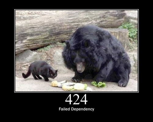 424 Failed Dependency The request failed due to failure of a previous request.