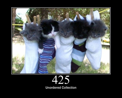 """425 Unordered Collection  Defined in drafts of """"WebDAV Advanced Collections Protocol""""."""