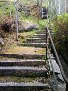 Skansberget trappa bakom Sportlife