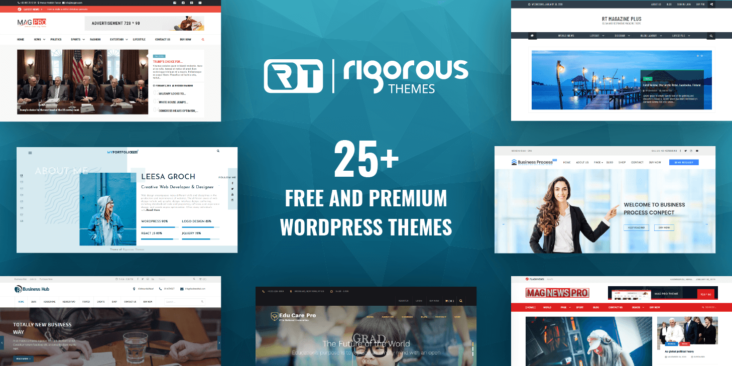 Lightweight and Minimal Responsive Free WordPress Themes For