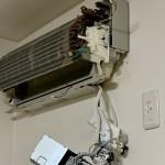 エアコン分解掃除をしました。cs-634cex2-w(お掃除機能付き)