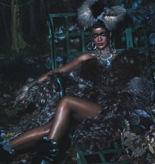 Rihanna for W Magazine 2014 Wildest Style Icon