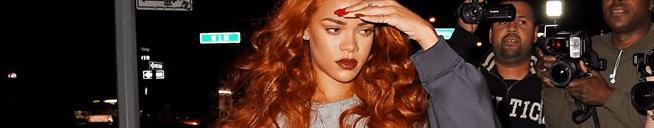 Rihanna visited a recording studio on Saturday