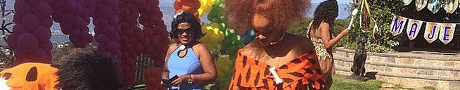 Rihanna attends Majesty's first birthday party