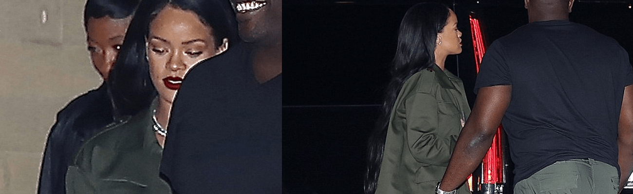 Rihanna dines at Nobu restaurant