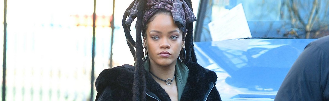 Rihanna on the set of Ocean's Eight in New York