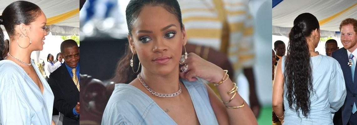 Rihanna meets Prince Harry in Barbados