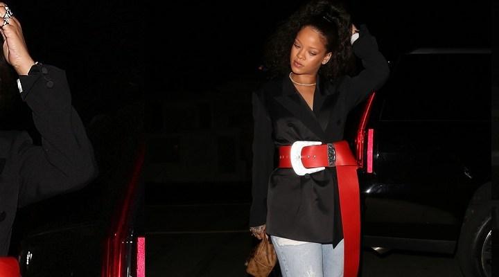 Rihanna dines at Giorgio Baldi