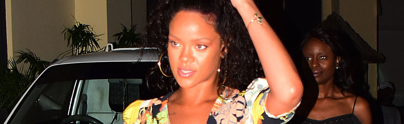 Rihanna spotted in Barbados