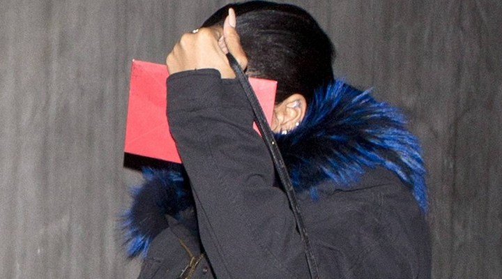 Rihanna at a studio in Los Angeles
