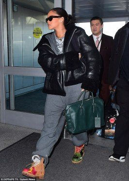 Rihanna left New York on January 25, 2017 JFK Airport