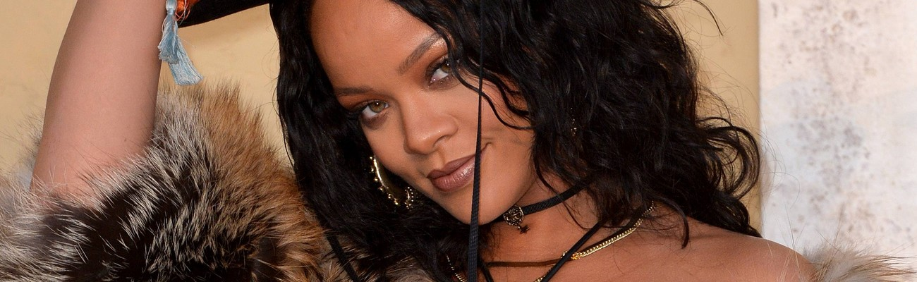 Rihanna attends Dior Fashion Show in Los Angeles