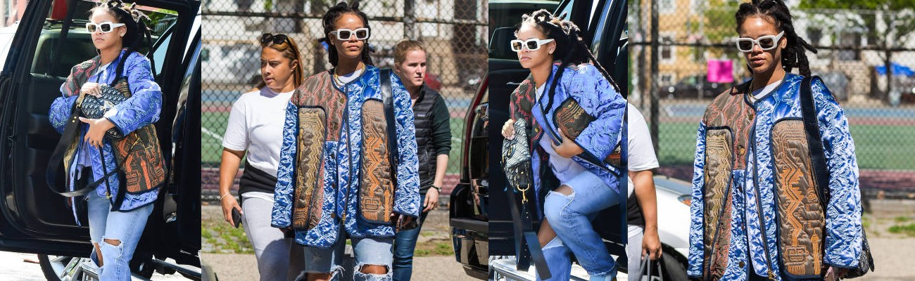 Rihanna is seen on the set of Ocean's 8 again