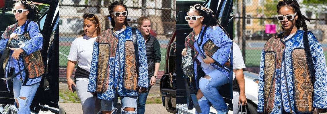 Rihanna is seen on the set of Ocean's 8 again