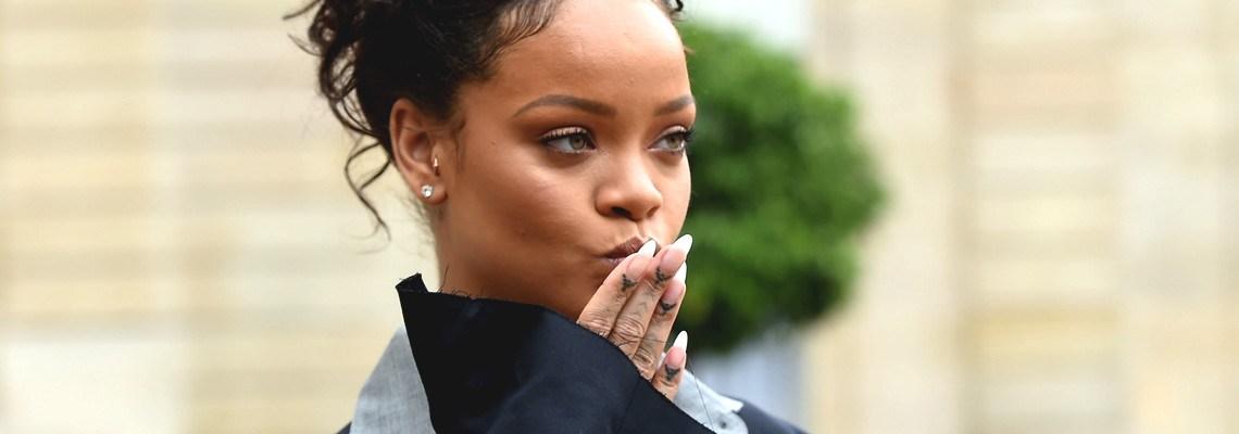 Rihanna meets Emmanuel Macron to discuss education