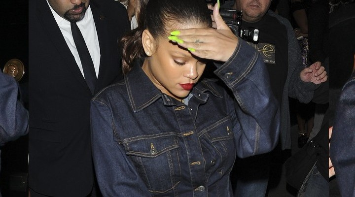 Rihanna slays in denim as she steps out in London