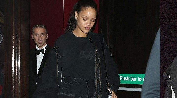 Rihanna goes out in London