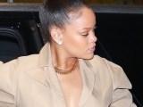 Rihanna rocks white boots in New York rihanna-fenty.com