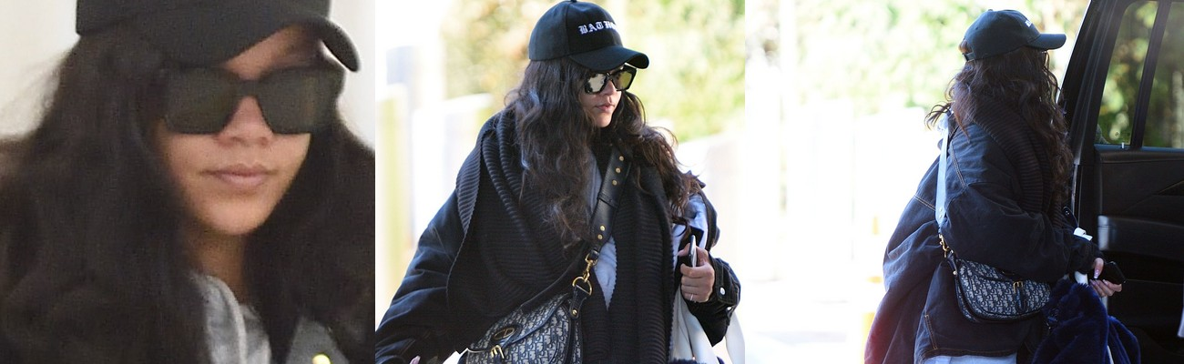 Rihanna spotted at JFK Airport