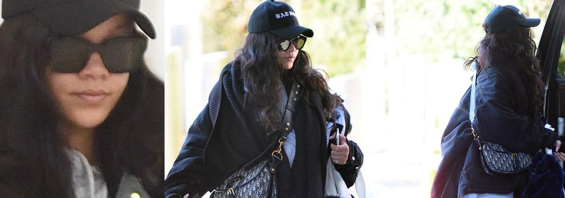 Rihanna spotted at JFK Airport