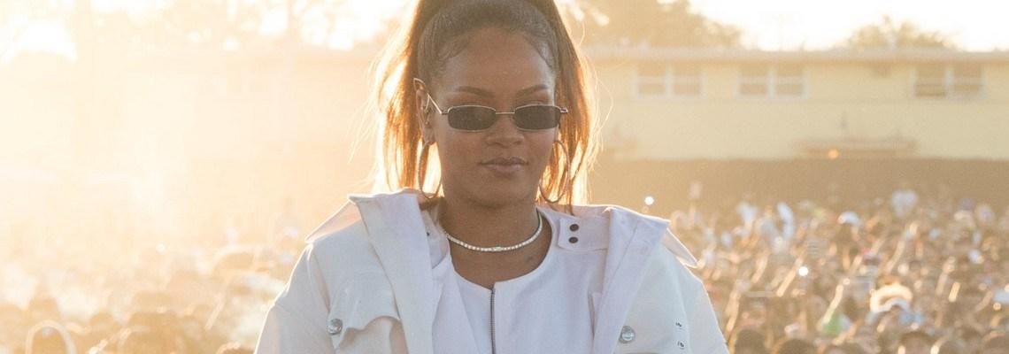 Rihanna performs at TDE's Annual Holiday Concert
