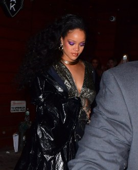 Rihanna attends Grammy Awards after party January 28, 2018