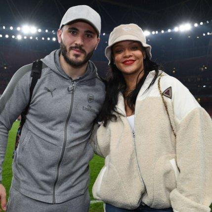 Rihanna attends Arsenal game in London February 3, 2018 Rihanna Online