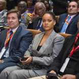 Rihanna attends GPE Financing Conference in Dakar on February 2, 2018