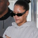Rihanna jets out of New York on February 27, 2018