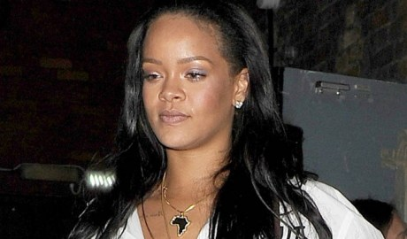 Rihanna enjoys a night out in London on May 22, 2018